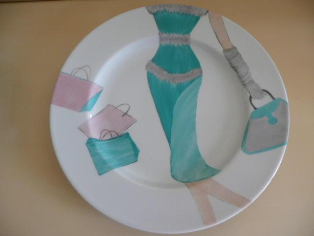 Jade Assiette plate en verre gris métallique D28cm  Non classe  pas cher